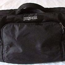 Jansport Black Laptop Expandable Nylon Messenger Bag  Photo
