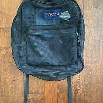 Jansport Black Mesh Backpack (Large)  Pre-Owned Photo