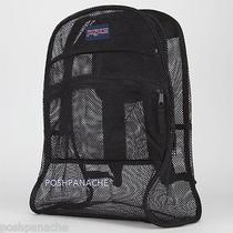 Jansport Black Mesh Pack See Through Backpack Brand New With Tag Photo