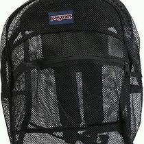 Jansport Black Mesh Pack See Through Backpack  Nwot Photo