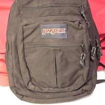 Jansport Black Nylon Backpack Book Bag Photo