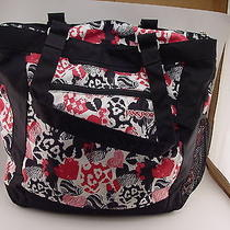 Jansport Black & Pink Hearts Book Bag Bookbag Photo