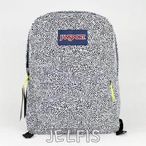 Jansport Black Superbreak Backpack Black Ziggy T50106q Photo