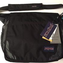 Jansport Black W/ Gray Bag Computer Messenger Laptop Crossbody Tote Photo