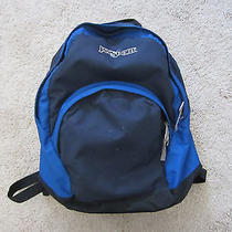 Jansport Blue 3-Pocket Backpack Book Bag Photo