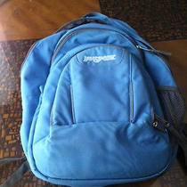 Jansport Blue Backpack/ Laptop Bag Large Expandable   Photo