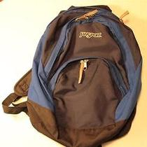 Jansport Blue & Dark Blue Nylon Backpack Book Bag Photo