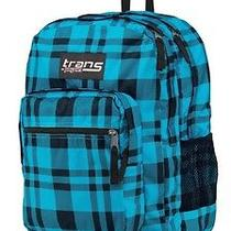 Jansport Blue Plaid Backpack With Computer Sleeve  Photo