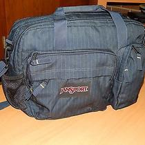 Jansport Blue Striped Messenger Bag With Computer Compartment Photo
