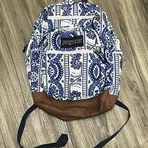 Jansport Blue & White Paisley Backpack Photo