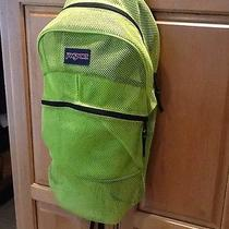 Jansport Bright Green Mesh See Through School Backpack Photo