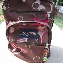 Jansport Brown Pink Tan Backpack Book Bag Photo