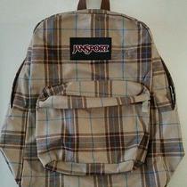 Jansport Brown Plaid Original Backpack Photo
