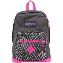 Jansport City Scout Backpack - Shady Grey/fluorescent Pink / 18