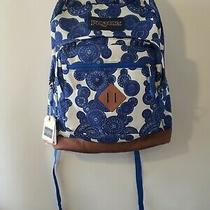 Jansport City View Lace Bubbles Backpack School Book Bag Blue White - New  Photo