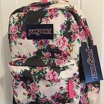 Jansport Classic Superbreak Backpack Bag High School College- Mltgreyfloralflo Photo
