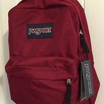 Jansport Classic Superbreak Backpack Bag High School College-Viking Red Photo