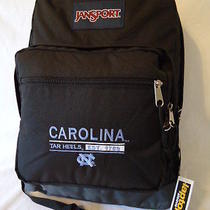 Jansport College Backpack North Carolina Tar Heels Logo City Scout Bag Black Nwt Photo