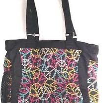 Jansport Colorful Tote or Computer Book Beach Travel Bag Peace Signs Photo