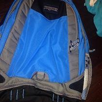 Jansport Computer Laptop Backpack Blue Black Grey  New Photo