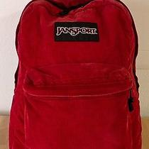 Jansport Corduroy Backpack Book Bag Red  Photo