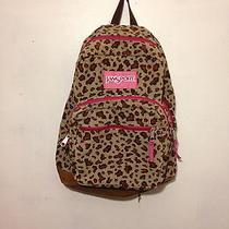 Jansport Corduroy Leopard Skin Book Bag // Backpack Photo