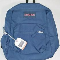 Jansport Cross Town Backpack W/ Side Pocket - Navy Blue (Js0a47lw) - Nwt Photo