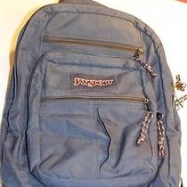 Jansport Dark Blue Nylon Backpack Book Bag Photo