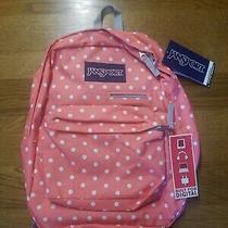 Jansport Digibreak Coral Sparkle Digital Laptop Student Backpack Book Bag Tablet Photo