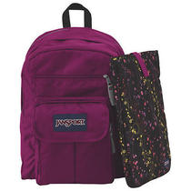 Jansport Digital Friendly Laptop Backpack Berrylicious/purple W/ Laptop Sleeve Photo