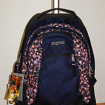 Jansport Driver 8  Wheeled Backpack 2100 cu.in Pansy Ditzy New Super Deal  Photo