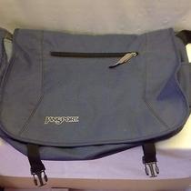 Jansport Dusty Blue Laptop Messenger Bag Euc Photo