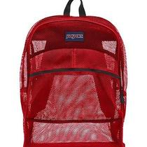 Jansport Electric Red Mesh Pack See Through Backpack Brand New With Tag Photo