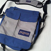 Jansport  Elefunk Messenger Bag Laptop Tote School Shoulder Blue and Gray Photo