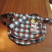 Jansport Elefunk Messengercomputer Bag Plaid New With Tags Photo