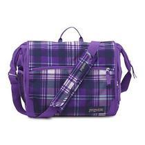 Jansport Elefunk Printed Backpack  Purple Night Preston Plaid Photo