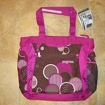 Jansport Ella Laptop Tote Pink and Brown Photo