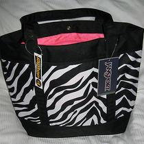 Jansport Emma Tote Bag Laptop Bag Tzu99xv Black/white/fluorescent Pink 15