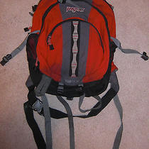 Jansport Equinox 33 Backpack Black Red Gray Book Bag Hiking Computer Travel  Photo