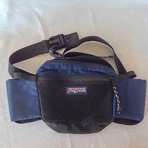 Jansport Fanny Pack Blue  Usa Water Bottle Holder Lumbar Hip Waist Bag Backpack Photo