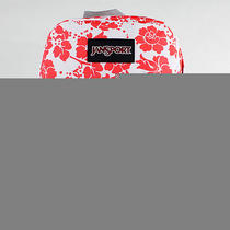 Jansport Fluorescent Red Floral Fun Backpack 16