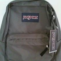 Jansport  Forge Grey Superbreak Backpack Free  Priority Shipping  Photo