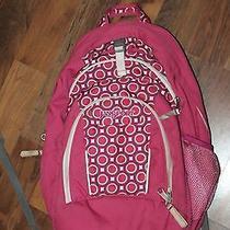 Jansport Girls Pink Dot Larger Backpack Book Bag Photo