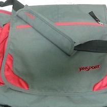 Jansport Gray and Red Street Messenger Shoulder Bag/computer Photo