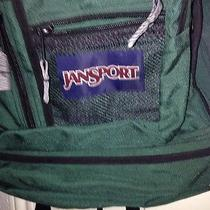 Jansport Green/black Backpack College Student Camping Photo