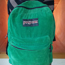 Jansport Green Corduroy Backpack Photo