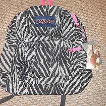 Jansport Grey Tar Wild at Heart Backpack Nwt48 Photo