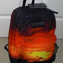 Jansport High Stakes Amazing Sunset Backpack Nwt  Photo