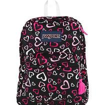 Jansport High Stakes School Backpack - Pink Tulip Lots of Love Trs7zr8 Photo