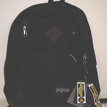 Jansport Houston Backpack Black Book Bag W Padded Tablet Sleeve Photo